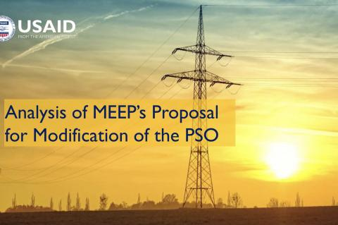 Analysis of MEEP's Proposal for Modification of the PSO